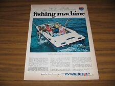 1970 Print Ad Evinrude 19-Foot Sport Fisherman Boats Milwaukee,WI