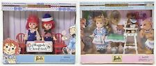 LOT OF 2 KELLY & TOMMY DOLLS RAGGEDY ANN & ANDY GOLDILOCKS AND THE 3 BEARS NRFB