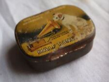 VINTAGE HIS MASTERS VOICE HALF TONE GRAMOPHONE NEEDLES & TIN BOX