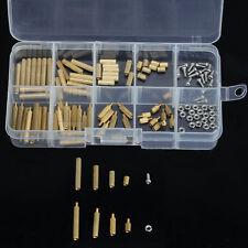 Gold M2 Male Female Brass Spacers Standoff PCB Board Screw Nut Assortment 120pc