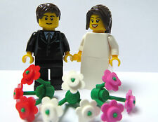 LEGO MINIFIGURE wedding sposa lungo marrone coda di cavallo SPOSO Marrone Capelli CAKE TOPPER