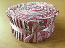 JELLY ROLL STRIPS 100% COTTON PATCHWORK FABRIC DUSKY PINK 40 PIECES
