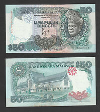 6th RM50 Jaffar Sign 1st Prefix #XS4049734 BA Banknote - UNC minor foxing