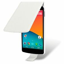 For LG Nexus 5 Quality Premium PU Leather Flip Case Cover - White