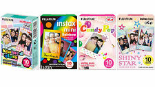 40 Fuji Instax Mini 8 Films Rainbow-Stained Glass-Shiny Star-Candy Pop Fujifilm