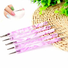 Lot de 5 Dotting Tool Rose - Nail Art - Manucure - Stylo - Pen