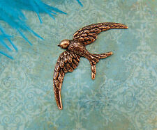 ANTIQUE COPPER (2 Pieces) SOARING BIRD Stamping - Victorian Finding (FA-6025)