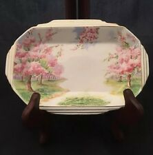 Royal Albert Bone China Blossom Time Art Deco Rectangular Tray England