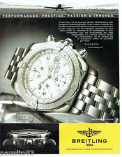 PUBLICITE ADVERTISING 046  2004  Breitling  montre Chronomat evolution