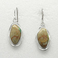 Barse Jewelry Boulder Turquoise and Silver Plated Earrings