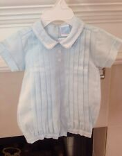 NWT WILBETH BOYS ONE PIECE ROMPER W/CAP SIZE 3 MO TUCKS & EMBROIDERY EXCEPTIONAL