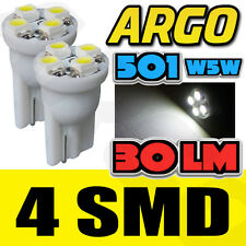 4 SMD LED XENON WHITE QUAD 501 T10 SIDELIGHT BULBS VAUXHALL ZAFIRA MPV