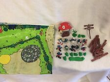 Vintage 1970's Schleich The Smurfs Lot Of Characters Parts Pieces Playmat