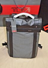 REDUCED!! NEW FROM TUMI- TAHOE , KENT FLAP BACKPACK IN GRAY  - RETAILS $345.00