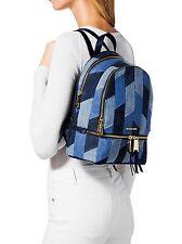 Michael Kors Rücksack/Tasche Rhea Zip MD Backpack Patchwork Denim NEU!