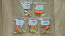 5x STANDARD Running ledger sea fishing  rigs 2/0  hook good 4 cod bass