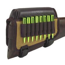 Tourbon Chasse Pistolet Buttstock Cheek Rest de Fusil Munitions Toile et Cuir