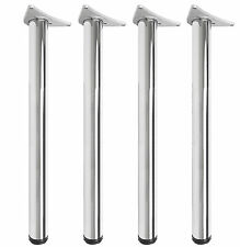4pc set Brushed Chrome LEG 1100mm Adjustable Worktop/Support/Table/Kitchen Round