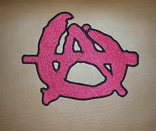 Red Anarchy 1% A  Large Rocker Biker Iron/ Sew-on Embroidered Patch/ Badge/ Logo
