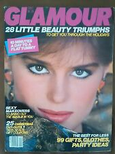 VINTAGE Glamour Magazine  December 1982 Jackie Adams cover