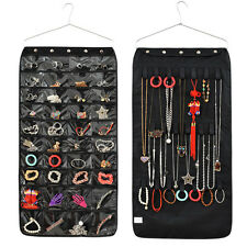 Jewelry Hanging Storage Organizer Holder Display Bag Double Side 40 Pocket &Hook