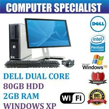 DELL FULL SET COMPUTER DESKTOP PC DUAL CORE 2GB RAM 80GB HARD DRIVE XP 17'' TFT