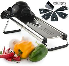 Chef's Inspirations Premium V Blade Stainless Steel Mandoline Food Slicer Cut...