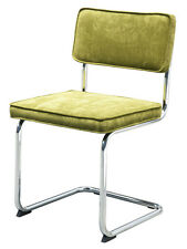 Eetkamerstoel Rainbow groen ribstof stoel