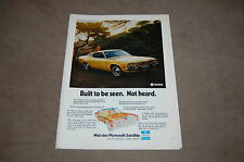 73 or 74 Plymouth Satellite Sebring Plus Yellow Mopar Original Print Ad