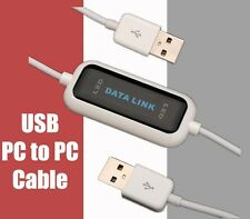 High Speed USB PC to PC Data Sync Link Net File Transfer Cable for Laptop PC
