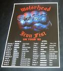 Motorhead concert poster Iron Fist UK Tour 1982 new A3 size repro