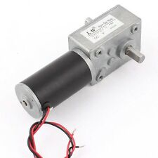 GW31ZY DC 24V 15RPM 1:505 Reduction Ratio 30KG.CM Double Shaft Worm Geared Motor