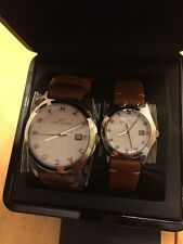 Marc by Marc Jacobs His and Hers White Dial Leather Band Watch Set - MBM9002