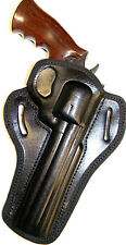 "CEBECI BLACK LEATHER OWB BELT SLIDE HOLSTER for S&W 716 22LR 6"" REVOLVER"