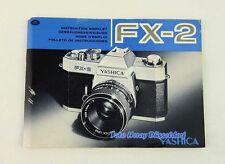 Yashica FX-2 die Bedienungsanleitung deutsch u. weitere Sprachen 01386