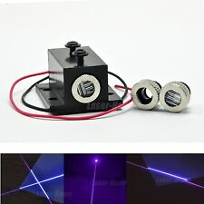 Dot/Line/Cross Focusable 405nm 50mw Violet/Blue Laser Diode Module w/ Heatsink