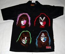 KISS Solo Albums Official Dragonfly Button Down Dress Shirt L 2001 Gene Ace NWT