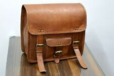 Motorcycle 2 Side Pouch Brown Leather Side Pouch Saddlebags Saddle Panniers 2Bag