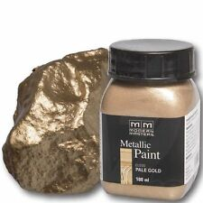 Pale Gold Metallic Paint 100ml Modern Masters Metallfarbe Metalleffekt Acryl