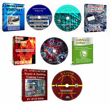 Laptop PC Repair + Learn How Reinstall Windows Training Video It Course 4 DVD