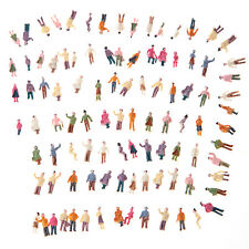 100pcs N Scale 1:150 Mix Painted Model Train Park Street Passenger Figures