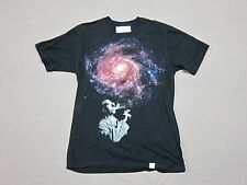 the IMAGINARY FOUNDATION MENS SMOKING GALAXY GRAPHIC BLACK T SHIRT SIZE MEDIUM