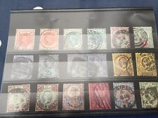 GB UK Victoria 18 stamps various ones with interesting postmarks