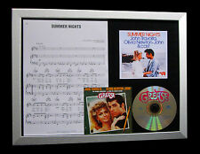 GREASE+MOVIE Summer Nights GALLERY QUALITY CD FRAMED DISPLAY+EXPRESS GLOBAL SHIP