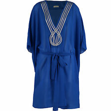 NEW GOTTEX BLUE KAFTAN / COVER UP   Size LARGE