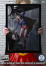 Supergirl II - Dark City Comic Art Series  - 200 Limited Edition Print