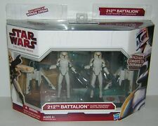Star Wars Clone Wars 212th Battalion Clone Troopers with Back Packs