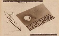Y8779 Materiel pour le Camping R. GUILLOT - Pubblicità d'epoca - 1931 Old advert