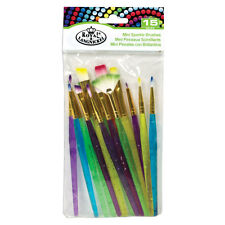 Royal & Langnickel 15 Piece Mini Sparkle Paint Brushes - Children's Art & Craft
