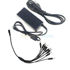 DC 12V 5A Power Supply Adapter + 8 Split Power Cord For CCTV Security Camera DVR